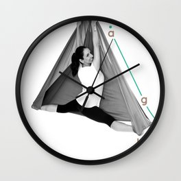 AntiGravity Butterfly Pose Wall Clock