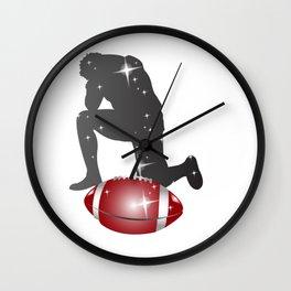 Kneeling Football Player Wall Clock