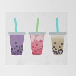 Bubble Tea Trio Throw Blanket