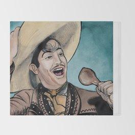 Jorge Negrete Really Loves Smoked Chicken Throw Blanket