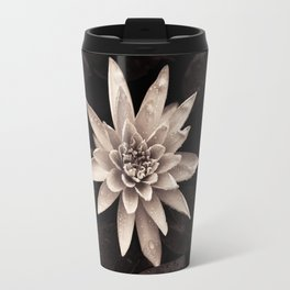 White Flower Travel Mug