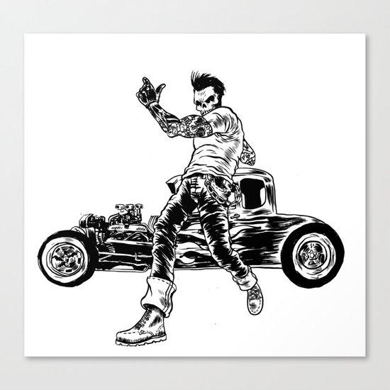 Dead Racer Canvas Print
