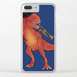 T-Rex Trumpet Clear iPhone Case