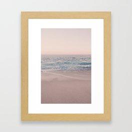 ROSEGOLD BEACH Framed Art Print