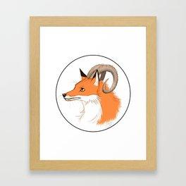 Horned Fox Framed Art Print