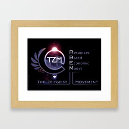The Zeitgeist Movement - logo 2 Framed Art Print