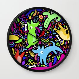 Los Perros de Xolotl Wall Clock