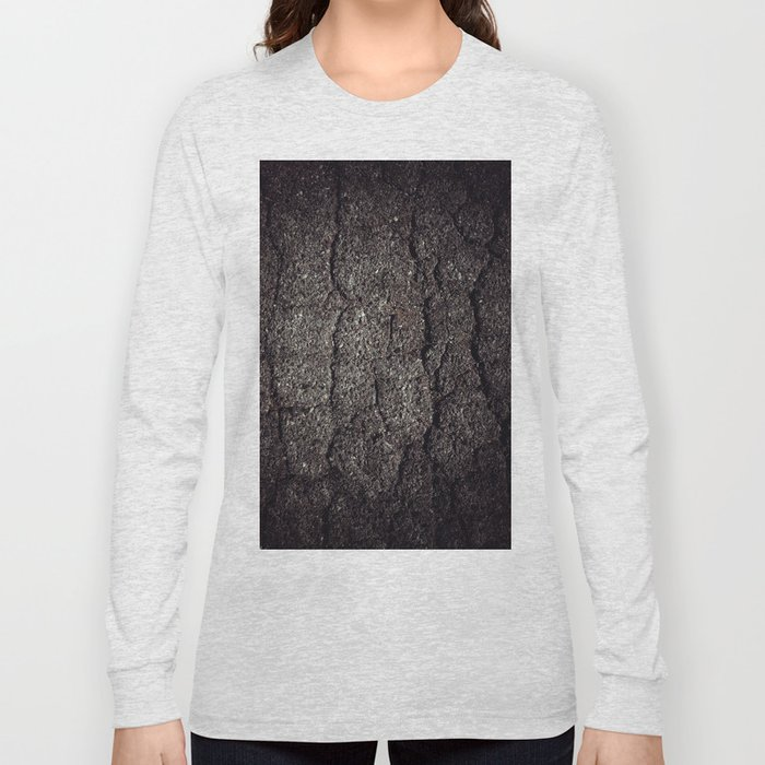 Cracked asphalt road Long Sleeve T-shirt