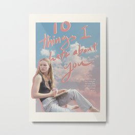 10 things I hate about you alt poster Metal Print