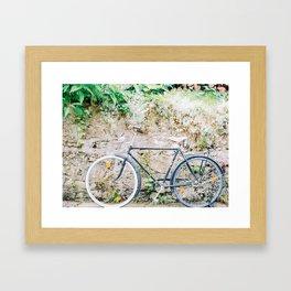 A Bike in Hallstatt Framed Art Print