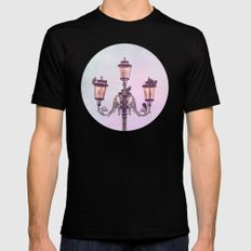 MAGICAL VENICE | Pink Lanterns MEDIUM Mens Fitted Tee Black