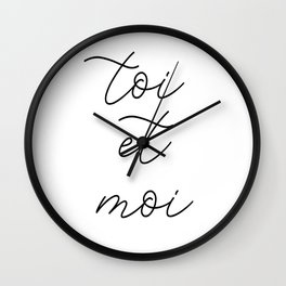 toi et moi, you and me Wall Clock