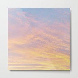 Blue Rose Yellow Sunrise Metal Print