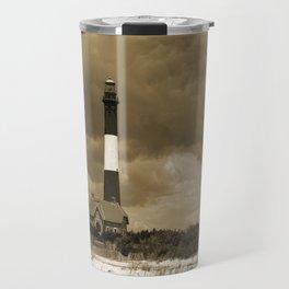 Fire Island Light In Sepia Travel Mug