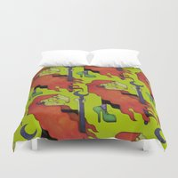 witch Duvet Covers featuring Witch by Iribú