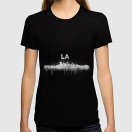 Los Angeles City Skyline HQ v5 WB T-shirt