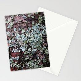 Lichen art on tree bark Stationery Cards