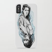 cosima iPhone & iPod Cases featuring sarah and cosima by hille