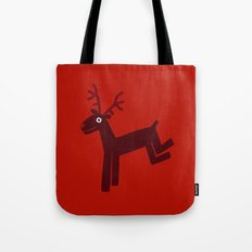 Reindeer-Red Tote Bag