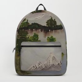 Snowy Mountain Scene Backpack