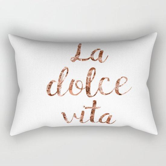 Rose gold La Dolce Vita Rectangular Pillow