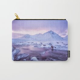 Freezing Mountain Lake Landscape Carry-All Pouch
