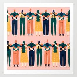 Sisters around the world Art Print