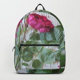 Vintage Red Rose Backpack