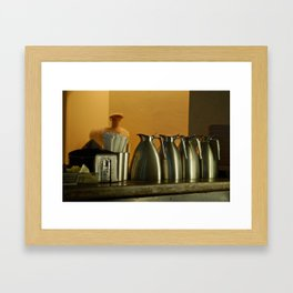 Steel Milk Jugs Framed Art Print