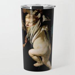 Rembrandt - The Abduction of Ganymede (1635) Travel Mug