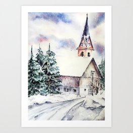 Harmony in white  Art Print