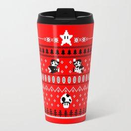 White Mario Christmas Travel Mug
