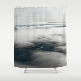 Through the clouds Shower Curtain