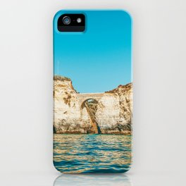 Rocks, Cliffs And Ocean Landscape At Lagos Bay Coast, Wall Art Print, Landscape Art, Poster Decor iPhone Case