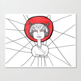 Angry Ninja Canvas Print