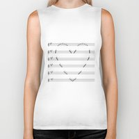 music notes Biker Tanks featuring Love Notes by KittyBitty