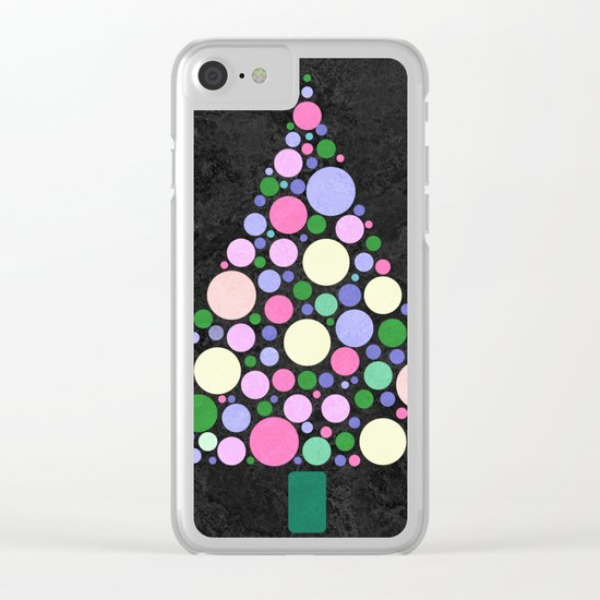 Christmas Tree Marble Clear iPhone Case