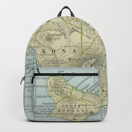 Vintage Map of Hawaii Island (1901) Backpack