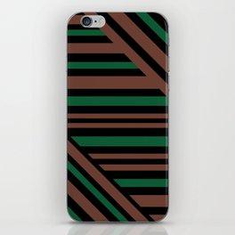 Geometric pattern Striped triangles 3 iPhone Skin
