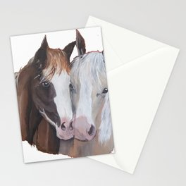 Horses Snuggling Stationery Cards