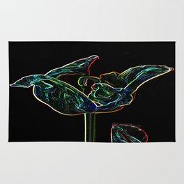 Pop Art Digital Photo Tulip jjhelene design Rug
