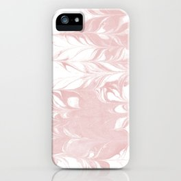 Marble pastel pink 1 Suminagashi watercolor pattern art pisces water wave ocean minimal design iPhone Case