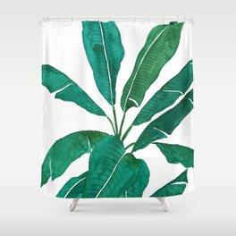 banana leaf watercolor Shower Curtain