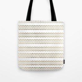 Elegant faux gold white chevron zigzag geometrical pattern Tote Bag