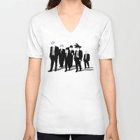 reservoir dogs V-neck T-shirts featuring Reservoir Warriors by ddjvigo