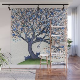 Oregon Whimsical Cats in Tree Wall Mural