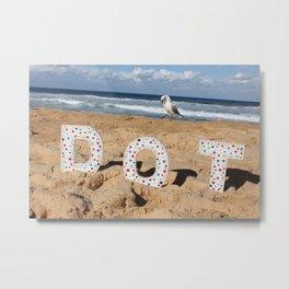Seagull Dots Metal Print