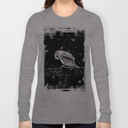 Snowfall at Night (Owl) Long Sleeve T-shirt