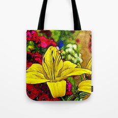 Fractal Yellow Lily Tote Bag