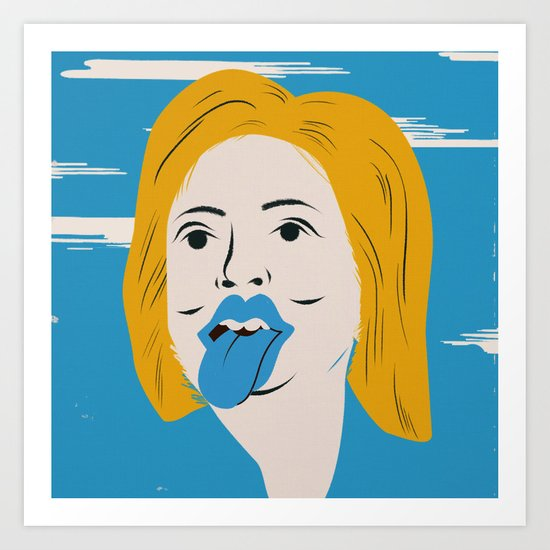 Rock N Roll Candidate / Hillary Clinton Art Print